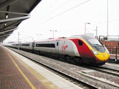 Virgin Trains' Class 390 Pendolino is the flagship train of the West Coast Main Line in the United Kingdom Exam Pictures, Train Pictures, Uk Rail, Electric Train, British Rail, Speed Training, Train Journey, Locomotive, West Coast