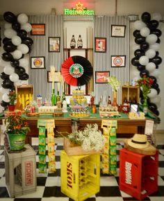 Festa boteco ideia bar mesa