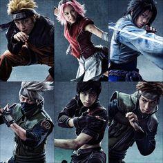team7, sakura haruno, sasuke uchiha, naruto uzumaki, haruno sakura, uchiha sasuke, uzumaki naruto, kakashi hatake, capitan yamato, sai, yui ito, ryuji sato, koudai matsuoka, yuki kimisawa, naruto live stage, ito yui, naruto live spetacle