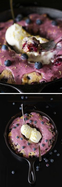 Hot Blueberry Cake w