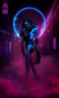 New robot concept art cyberpunk helmets ideas Cyberpunk Kunst, Cyberpunk Girl, Cyberpunk Fashion, Cyberpunk 2077, Art And Illustration, Neon City, Photo Oeil, Dark Fantasy, Fantasy Art
