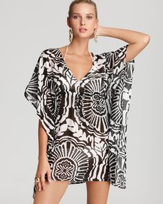 f2cf7bf150da8 Echo Medallion Print Butterfly Swimsuit Cover Up Women - Swimsuits & Cover- Ups - Bloomingdale's
