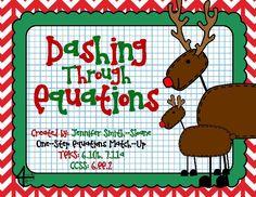 TeacherLingo.com $0.00 - FREEBIE Dashing Through Equations (One Step Equations)