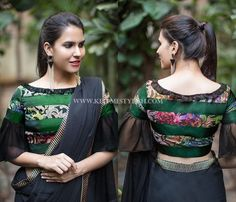 Looking for best blouse designs to your black sarees? Then read our quick guide on what designs would look good on your black drape and shop the best!