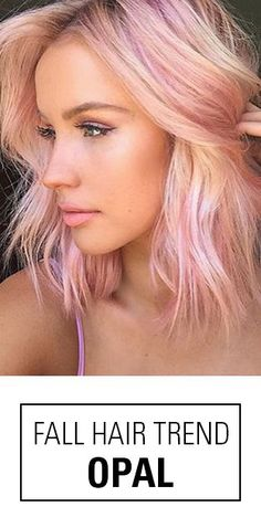 Opal hair color! A beautiful pastel hair color idea with seamless blends of pearly pinks, oranges and other gorgeous tones. Hair By: @chontelleberryman @glamhairartist