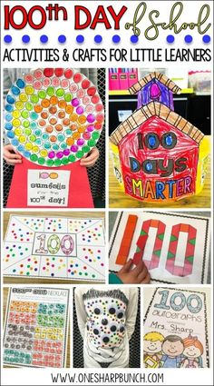 100th Day of School Activities, Crafts & FREEBIES