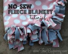 Only 3 supplies needed to make an adorable, inexpensive & thoughtful gift! Plus, hand made gifts are always cherished longer, aren't they?! Step by step how to make a No-Sew Fleece Blanket.