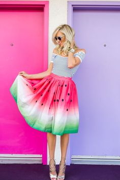 You are missing out on life if you missed this fruitful post Now on the blog is the amazing Watermelon Skirt!! MckennaBleu.com