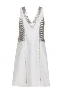 Grey and Silver Bead Embroidered V Neck Dress #paridhijaipuria #shopnow #ppus #happyshopping