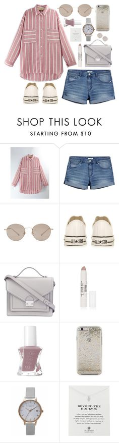 """""""Untitled #562"""" by clary94 ❤ liked on Polyvore featuring WithChic, H&M, Gucci, Converse, Loeffler Randall, Topshop, Essie, Kate Spade, Olivia Burton and Dogeared"""