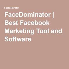 FaceDominator | Best Facebook Marketing Tool and Software Facebook Marketing Tools, Marketing Software, Make Facebook, Best Facebook, Advertising, Ads, Instagram