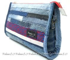 Recycled Denim, Recycled Fabric, Jean Purses, Purses And Bags, Kimono And Jeans, Denim Ideas, Denim Crafts, Patchwork Bags, Denim Bag