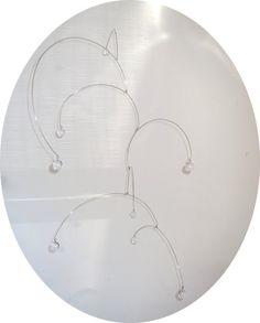 Unique Kinetic Art Sculpture Mobile  Clear by THEPURPLECRANE, $45.00