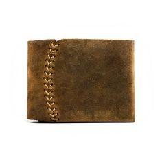 Bifold Leather Wallet hand stitched Men wallet and women wallet baseball leather slim minimal design Etsy.