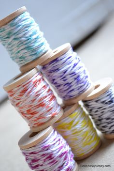 Make your own baker's twine. Super easy!