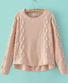 Shop Pink Long Sleeve Geommetric Knitting High Low Sweater online. Sheinside offers Pink Long Sleeve Geommetric Knitting High Low Sweater & more to fit your fashionable needs. Free Shipping Worldwide!