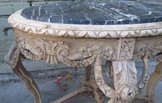 Pair of French Marble Top Side Tables image 7