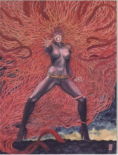 Medusa by Milo Manara. I totally never knew he did all these Marvel Comics pieces.