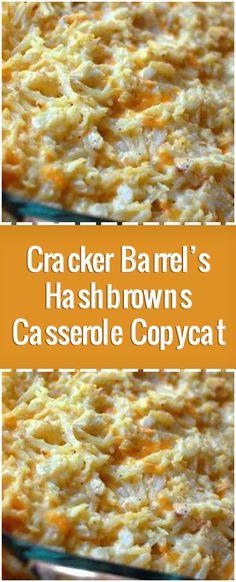 Cracker Barrel's Hashbrowns Casserole Copycat – Fresh Family Recipes Crockpot Hashbrown Casserole, Brunch Casserole, Hash Brown Casserole, Casserole Recipes, Cracker Barrel Hashbrown Casserole Recipe Copycat, Cheesy Hashbrown Potatoes, Slow Cooker Recipes, Gourmet Recipes, Crockpot Recipes