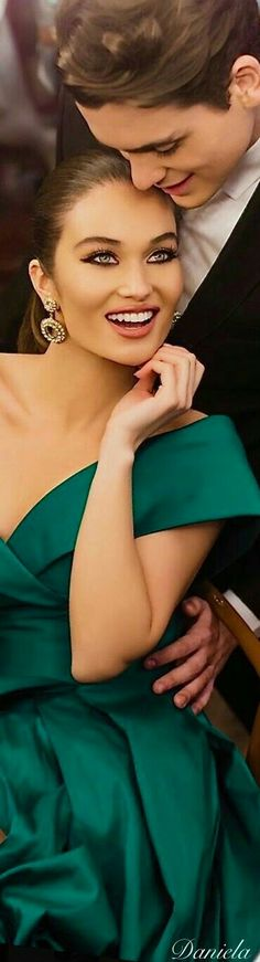 Classy Couple, Stylish Couple, A Night To Remember, Black Tie Affair, Glamour, Shades Of Green, Celebrities, Pretty, Beauty