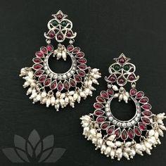 925 Silver by PraDe       #PraDeJewels #925silver #24kGoldplated #mangtika #kada #Earrings #Neckpiece #Rings #Nosepin #kemp #kundan  #guttapusalu #pearls #coral #silverjewelry #silver #fashion #fashiongoals #indianblogger #uniquejewelry #instagood #jewelgram #handmadejewellery #uniquejewelry #bridesmaids #buyhandmade Silver Earrings, Silver Jewelry, Stud Earrings, Handmade Jewelry, Unique Jewelry, Jewelry Design, Neck Piece, 925 Silver, Silver Ring
