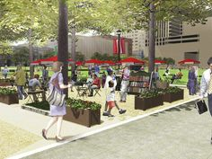 Columbus Metropolitan Library will turn a section of Columbus Commons into an outdoor reading room, including book carts and free wireless Internet.