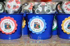 "Alvin & The Chipmunks ""Chipwrecked"" Goody Bags 6th Birthday Parties, Third Birthday, Boy Birthday, Cupcake Birthday Cake, Cupcake Party, Alvin And The Chipmunks, First Birthdays, School, Goody Bags"