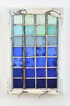 Hues of Blue #dravetart #art #lousiboudreault #painting #hue #blue #colour #boxes