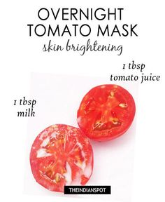 """Overnight green tea mask – skin clearing : Face mask works wonders in beautifying your skin but people are so busy these days that they don't get time to try these DIY face masks. Well for all those lazy and busy people, there are """"sleeping beauty masks"""" Acne Face Mask, Diy Face Mask, Diy Overnight Face Mask, Tomato Mask, Clear Skin Tips, Homemade Face Masks, Skin Brightening, Glowing Skin, Healthy Skin"""