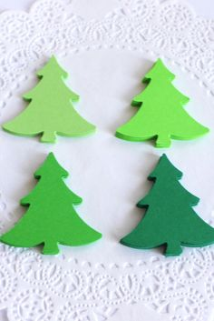 Christmas Trees in shades of green #scrapbooking #chirstmastree