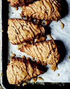 toasted hazelnut whole wheat scones + maple glaze