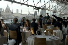 Natalie Portman at the OXO Brasserie in the OXO Tower.