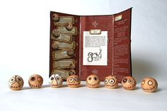 Designed by Thomas Holt, a student at Fort Hays State University September Art, Domino Jewelry, Student Success, Clay Tutorials, Packaging Design Inspiration, Tim Burton, Clay Crafts, Vintage Halloween, Favorite Holiday