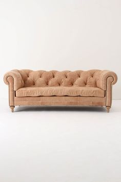Atelier chesterfield in almond from Anthro. This is a hot sofa, if a sofa can be hot. Although I don't want the seat to be tufted.