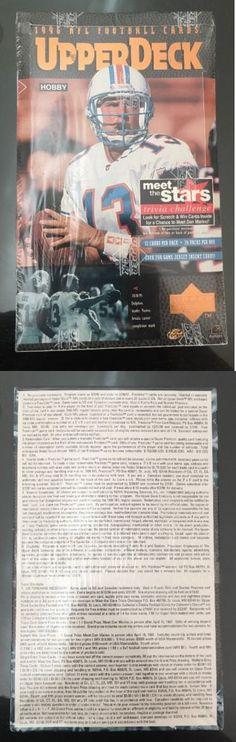Football Cards 215: 1996 Upper Deck Football Hobby Box Factory Sealed Nfl Dan Marino -> BUY IT NOW ONLY: $54.95 on eBay!