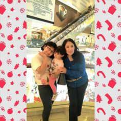 with my cute baby and oma cantik