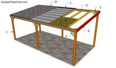 carport free outdoor plans diy shed wooden playhouse bbq wood