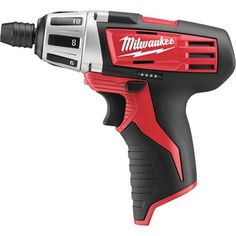 FREE SHIPPING — Milwaukee M12 Li-Ion Cordless Electric Subcompact Screwdriver — Tool Only, 1/4in. Hex Chuck, 500 RPM, Model# 2401-20