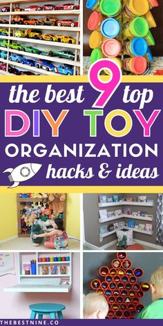 The Best 9 Top DIY Toy Organization Hacks & Ideas Need to finally organize your kids toys? Here are the best 9 DIY Toy Organization hacks that will f Kids Room Organization, Organization Hacks, Organizing Tips, Cleaning Tips, Dollar Tree Toys, Matchbox Car Storage, Diy Play Doh, Wooden Toy Boxes, Diy Shoe Rack