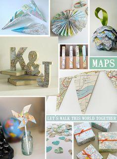 travel vintage wedding | Invitations: Travel themed wedding stationery - LoveLuxe Blog