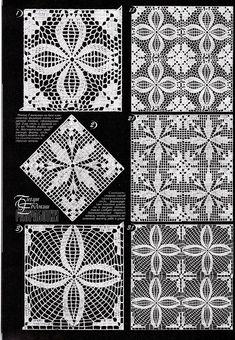 from jurnalik org Crochet Motifs, Crochet Blocks, Granny Square Crochet Pattern, Crochet Art, Crochet Diagram, Crochet Stitches Patterns, Crochet Squares, Thread Crochet, Filet Crochet