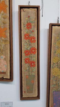 Korean Crafts, Korean Art, Japanese Design, Gouache, Embroidery, Sewing, Knitting, Frame, Floral
