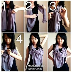 Tutorial #56 is an effortlessly graceful style that goes really well with patterned silk scarves. It&#8217