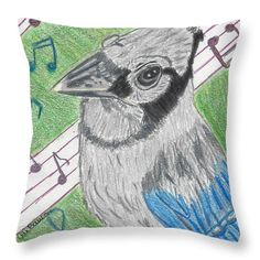 Want to buy this pillow? Click on the title or follow this link:  https://fineartamerica.com/featured/blue-diva-ali-baucom.html?product=throw-pillow
