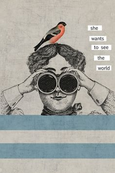she wants to see the world - Art Print by Her Art/Society6