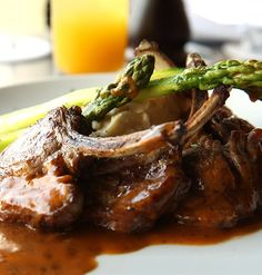 Moroccan-style Grilled Rack Of Lamb With A Creamy Tahini And Mint ...