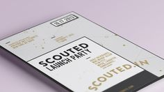 Scouted.In-vite by Ria McIlwraith, via Behance