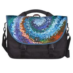 Circle Of Colors Abstract Laptop Commuter Bag http://fineartamerica.com/featured/inner-glow-abstract-art-annie-zeno.html?newartwork=true