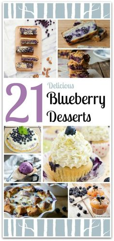 Blueberries are my favorite berry, and these delicious recipes will give you plenty to choose from. Easy recipes are my favorite kind, and most of these desserts are very easy to make. These are perfect for your next party. Who wants to be in the kitchen when you can be enjoying your family and friends instead?