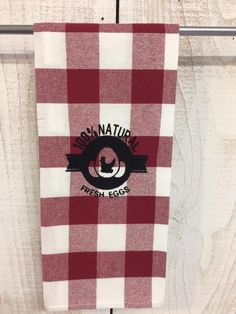 Check it out!  Fresh Eggs Checked Kitchen Towel at www.jendyandfriends.com